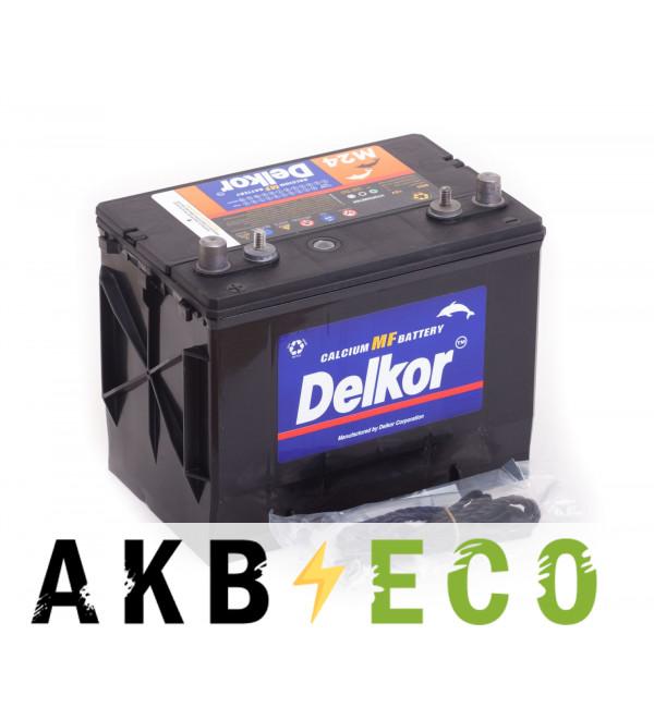 Автомобильный аккумулятор Delkor Marine M24MF (70L 490A 275х172х229)