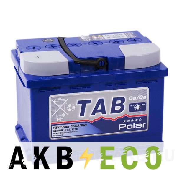 Автомобильный аккумулятор Tab Polar 55L низкий (550A 242x175x175) 121155 55508