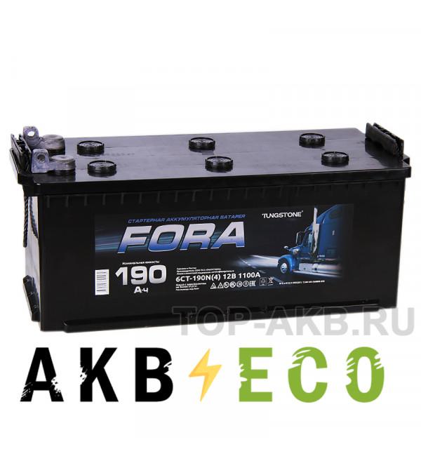 Автомобильный аккумулятор FORA 190 рус (клеммы под болт) 1100A 524x239x240