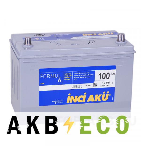 Автомобильный аккумулятор INCI AKU ASIA 100R 760A 306x173x225