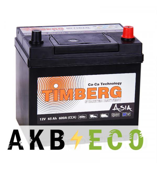 Автомобильный аккумулятор Timberg Asia 75D23L 65R 600A 230х172х220