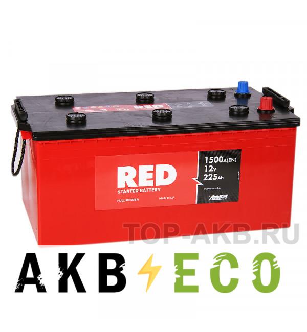 Автомобильный аккумулятор Red 225 euro (1500А 518x273x223)