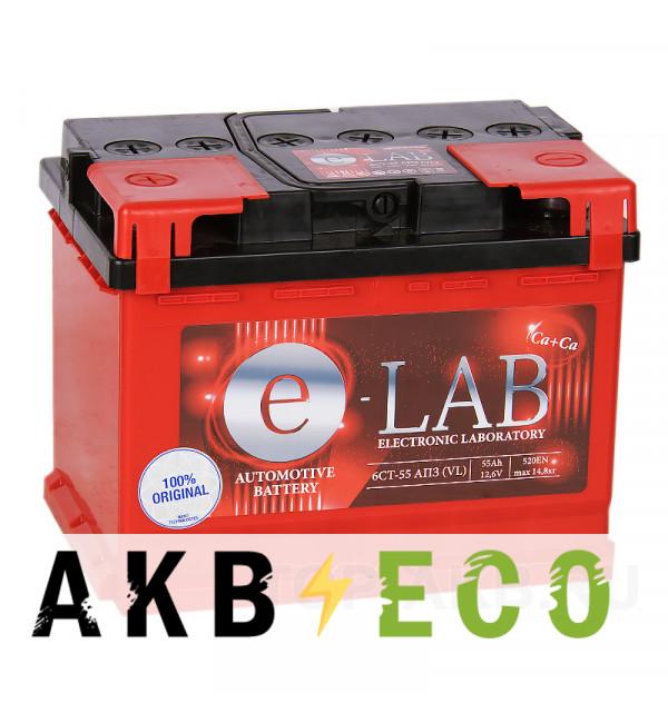 Автомобильный аккумулятор E-LAB 55L 490A (242x175x190)