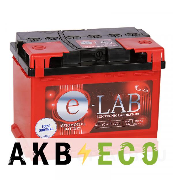 Автомобильный аккумулятор E-LAB 60R 560A (242x175x190)