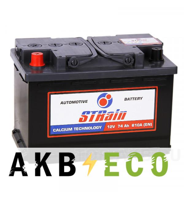 Автомобильный аккумулятор STrain 75L 630A 278x175x190