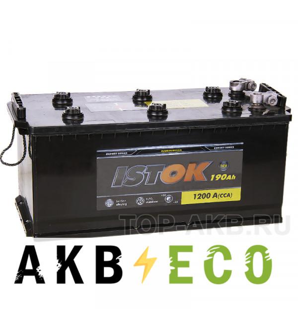 Грузовой аккумулятор ISTOK 190 рус 1200A (524x239x240)