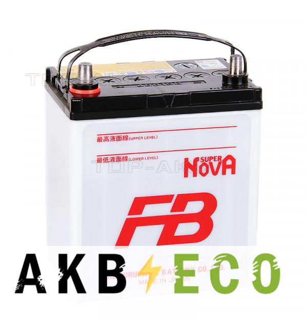 Автомобильный аккумулятор FB Super Nova 40B19R (38L 330A 187x127x227)