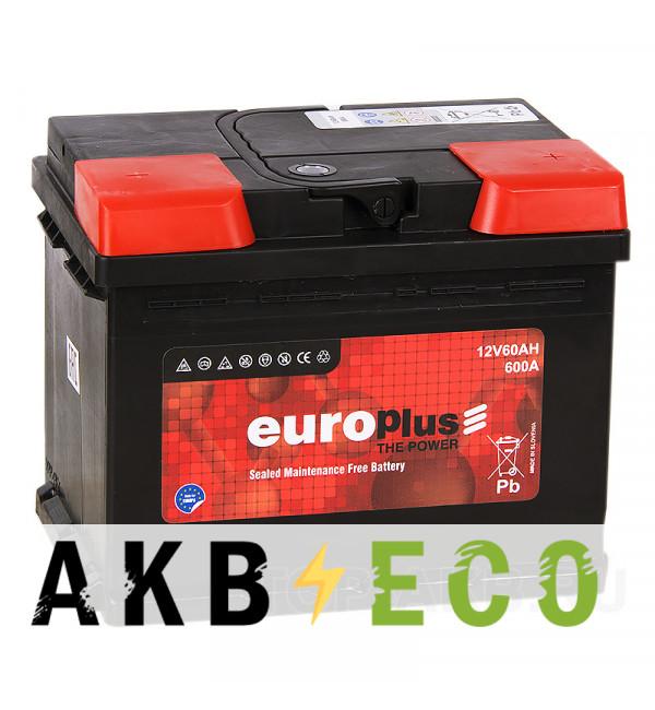 Автомобильный аккумулятор Europlus 60R 600A (242x175x190) 111060