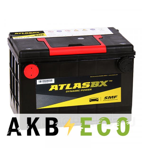 Автомобильный аккумулятор Atlas Dynamic Power MF78-670 (70L 670A 261x175x200) боковые клеммы