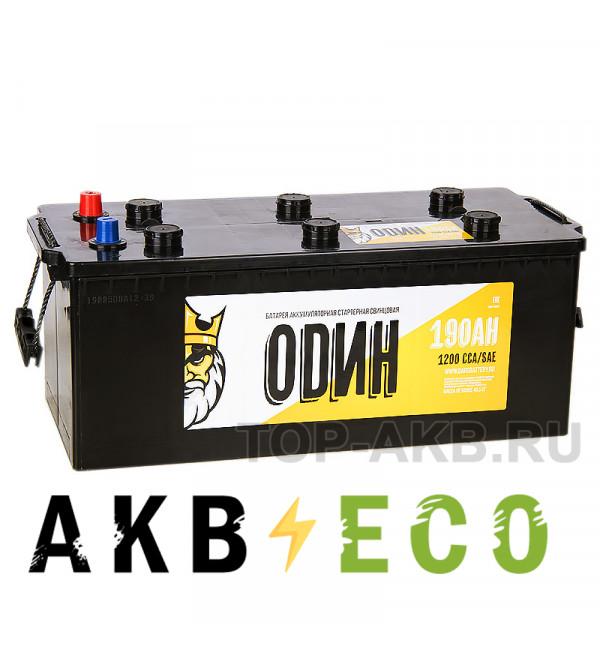 Грузовой аккумулятор ОDИН 190 евро 1200A 513x223x223