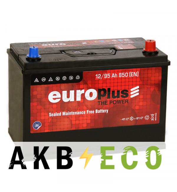 Автомобильный аккумулятор Europlus Asia 95R (850А 301x175x220) D31 обр.