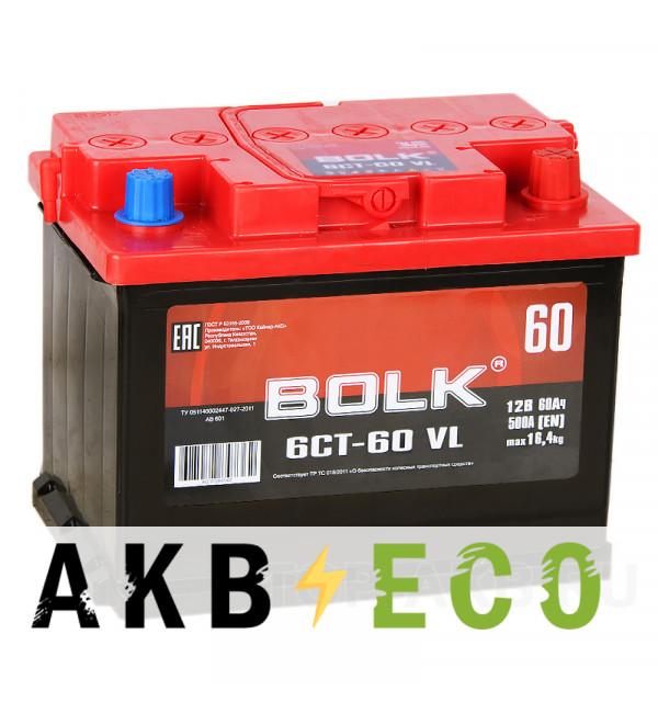 Автомобильный аккумулятор BOLK 60R 500A 242x175x190 AB600