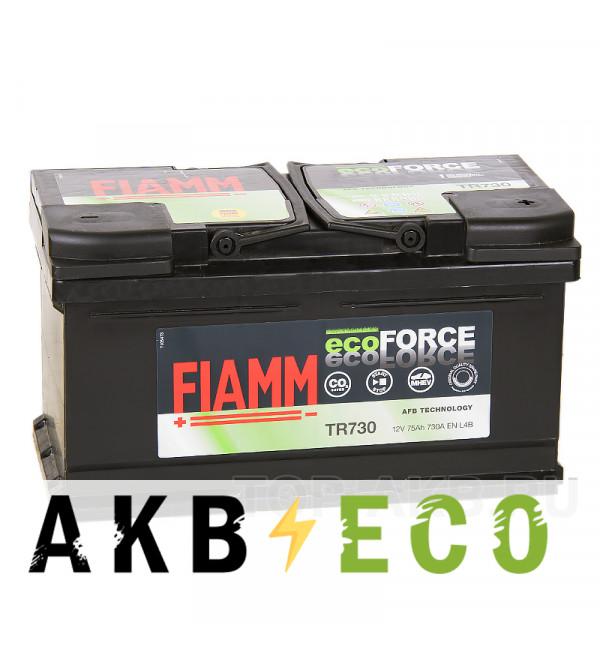 Автомобильный аккумулятор Fiamm Ecoforce AFB 75R низкий 730A (315x175x175) EFB Start-Stop TR730