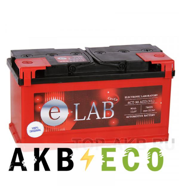 Автомобильный аккумулятор E-LAB 90L 780A (353x175x190)