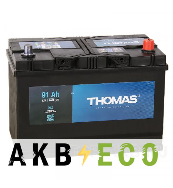 Автомобильный аккумулятор Thomas Asia 91R 720A 306x173x225