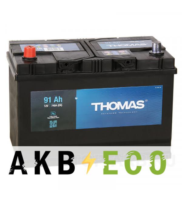 Автомобильный аккумулятор Thomas Asia 91L 740A 306x173x225