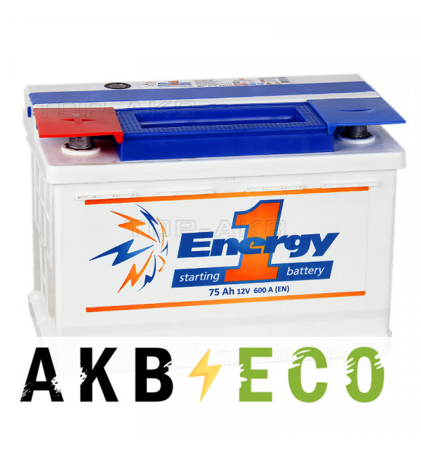Автомобильный аккумулятор Energy ONE 75L 600А 278x175x190