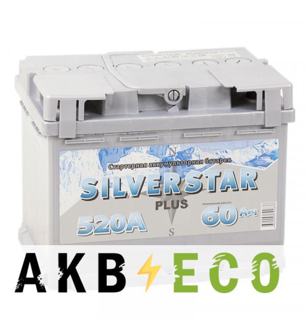 Автомобильный аккумулятор Silverstar Plus 60R 520A 242x175x190