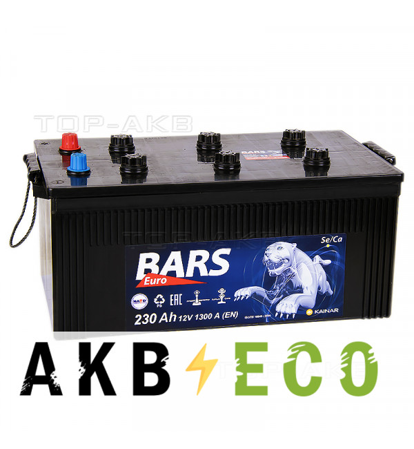 Автомобильный аккумулятор Bars 230 евро 1350A 518x274x238