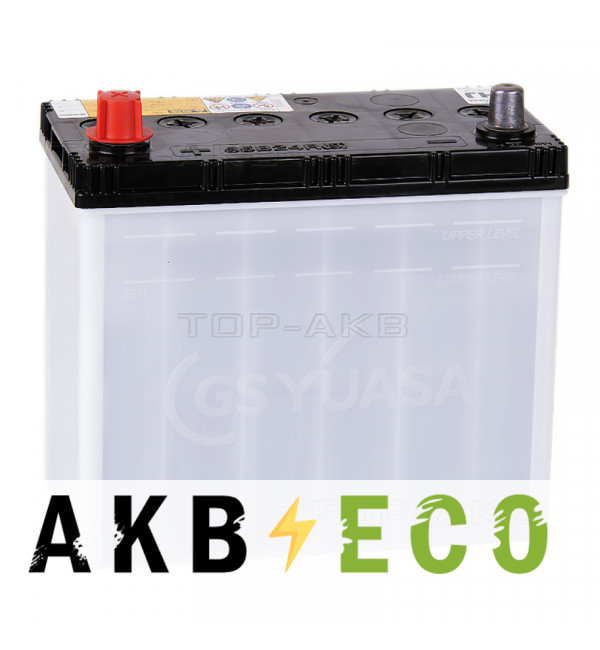Автомобильный аккумулятор GS YUASA HJ-B24R 55B24RS 45L 490A (238x128x227)