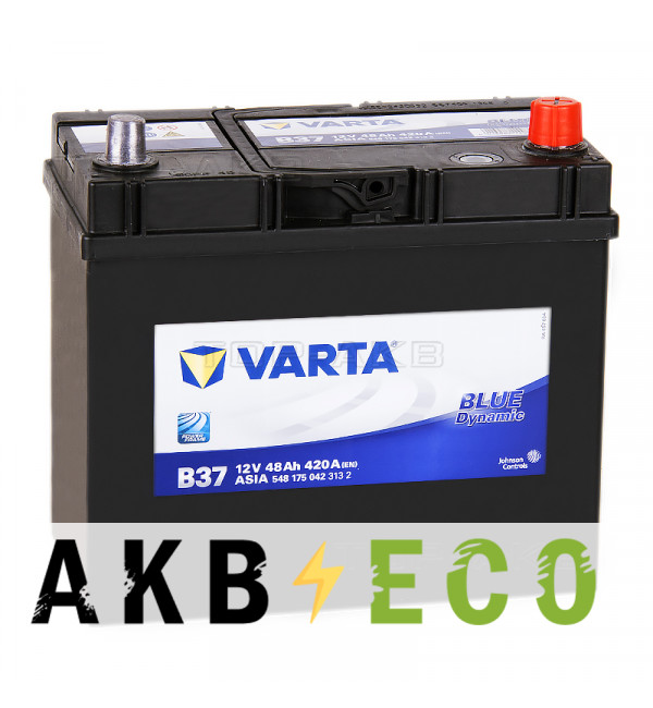 Автомобильный аккумулятор Varta Blue Dynamic B36/B37 ASIA 48R 420A 238x129x227