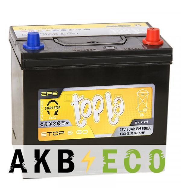 Автомобильный аккумулятор Topla EFB Stop-n-Go 60R (600A 232x173x227) 112260 56068