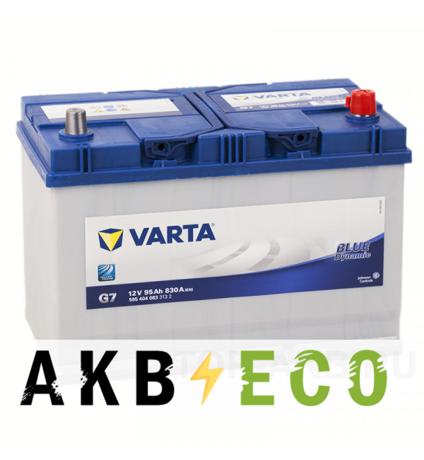 Автомобильный аккумулятор Varta Blue Dynamic G7 95R 830A 306x173x225 ( 595404083)