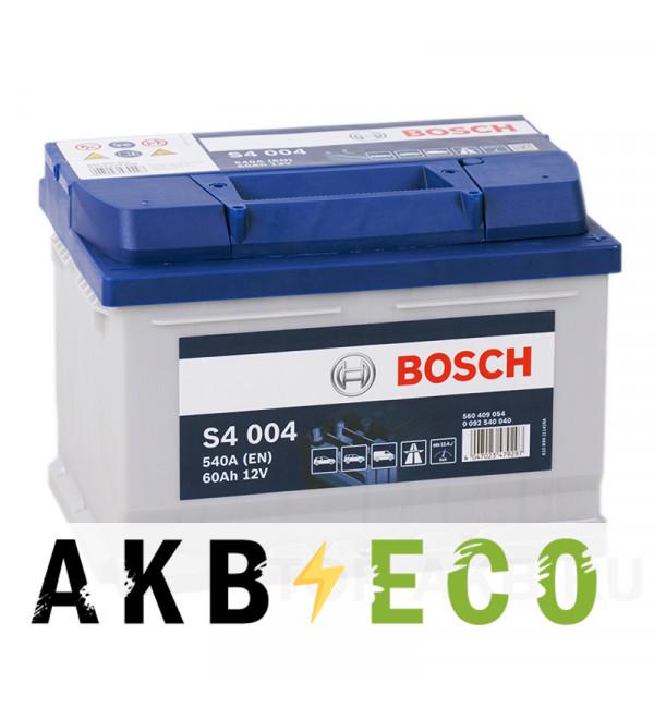 Автомобильный аккумулятор Bosch S4 004 60R 540A 242x175x175