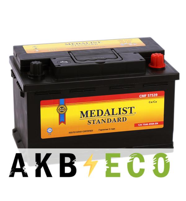 Автомобильный аккумулятор Medalist Standard 57539 (75R 640A 279x175x175)