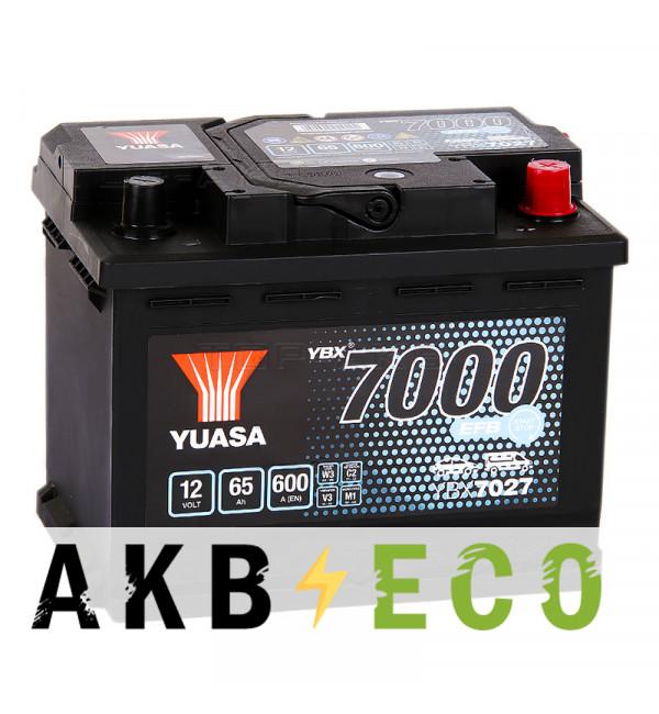 Автомобильный аккумулятор YUASA EFB 65R (600А 242x175x190) Start-Stop, YBX7027