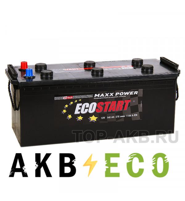 Автомобильный аккумулятор Ecostart 140 euro (1100А 513x189x217)