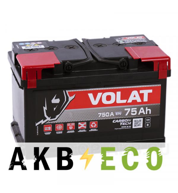 Автомобильный аккумулятор Volat 75R низкий (750A 278x175x175)