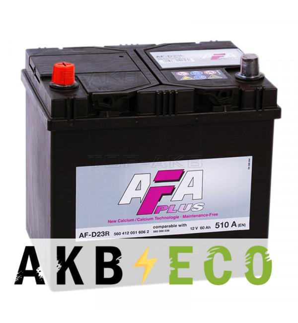 Автомобильный аккумулятор AFA Plus 60L 510A (232x173x225) AF-D23R