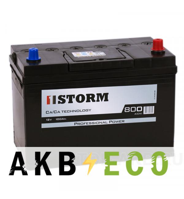 Автомобильный аккумулятор Storm Asia 100R 800A 306x173x225