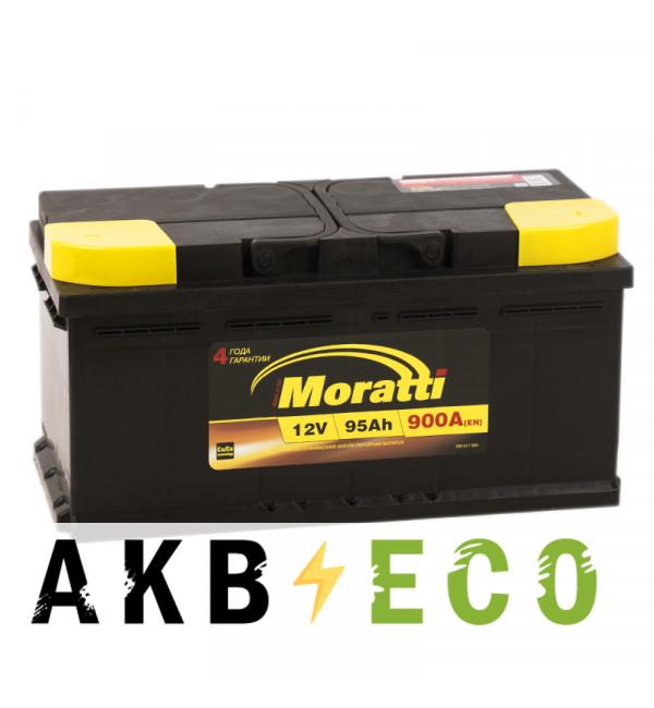 Автомобильный аккумулятор Moratti 95R низкий 900А 353х175х175