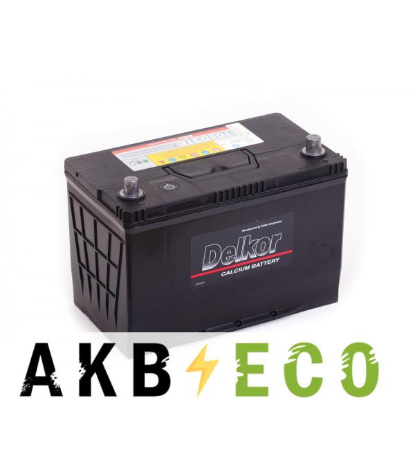 Автомобильный аккумулятор Delkor 105D31L (90R 750A 306x173x225)
