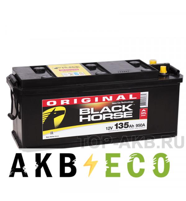 Автомобильный аккумулятор Black Horse 135 евро 950A 513x190x230