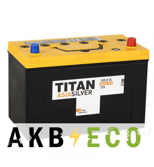 Автомобильный аккумулятор Titan Asia Silver 100R (850А 304x171x221)