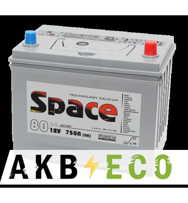 Автомобильный аккумулятор Space Asia 105D26L (80R 750A 260x173x225)