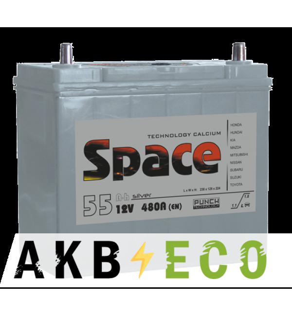 Автомобильный аккумулятор Space Asia 65B24L (55R 480A 238x129x225)