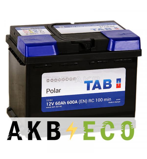 Автомобильный аккумулятор Tab Polar S60H 12V 60Ah обр.пол. (600A 242x175x190) 56008 SMF