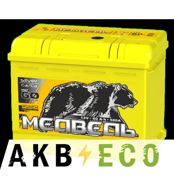 Автомобильный аккумулятор Тюменский медведь Сa/Сa 60 Ач прям. пол. 610A (242x175x190) Silver