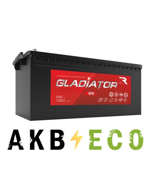 Автомобильный аккумулятор GLADIATOR EFB 225 евро 1550A 518x276x242