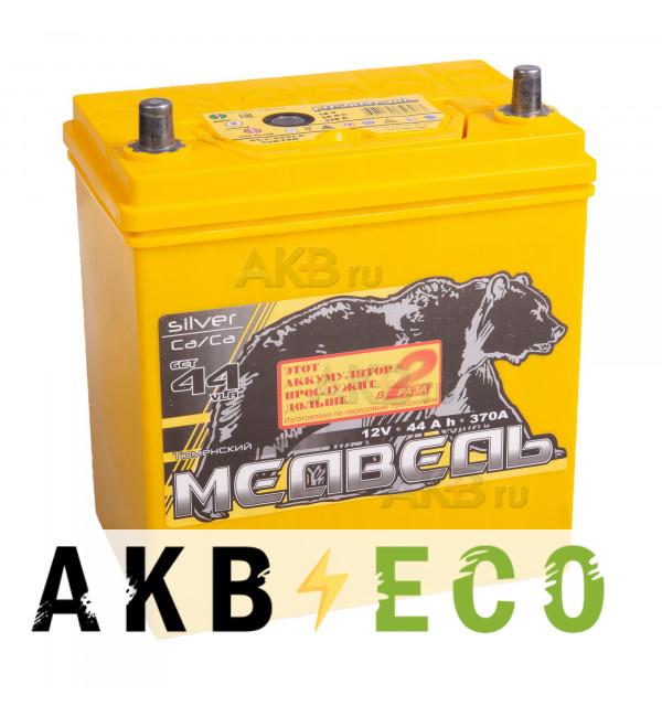 Автомобильный аккумулятор Тюменский медведь Сa/Сa 50B19R 44 Ач прям. пол. 370A (187x127x227) Silver ASIA