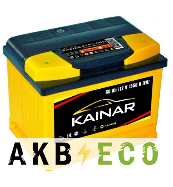 Автомобильный аккумулятор KAINAR 60 Ач прям. пол. 550А (242x175x190)