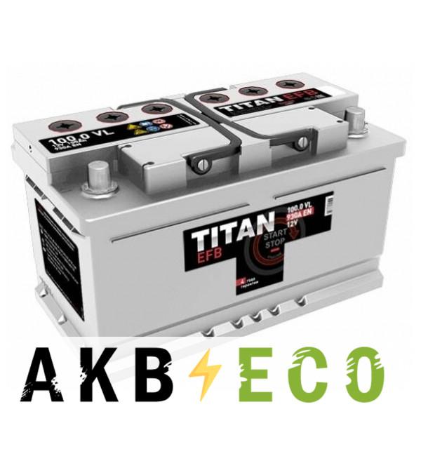 Автомобильный аккумулятор Titan EFB 100R 930A 353x175x190