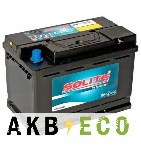 Автомобильный аккумулятор Solite EFB 70Ah 680A (278х175х190) о/п