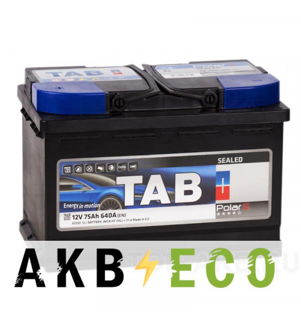 Автомобильный аккумулятор Tab Polar S 75L (640A 278x175x190) 57550 57233
