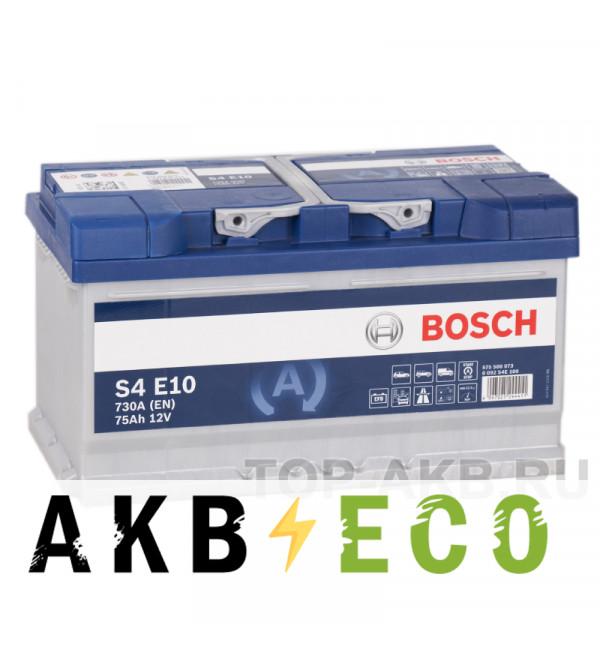 Автомобильный аккумулятор Bosch S4 EFB Start-Stop 75R (730A 315x175x175) E10