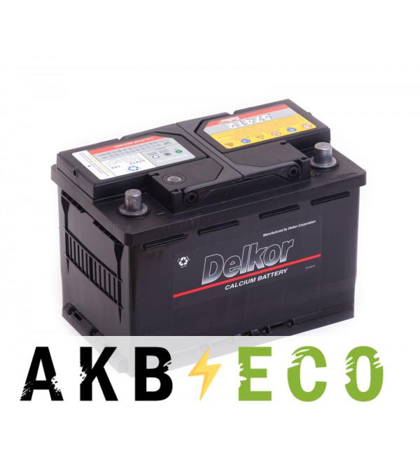 Автомобильный аккумулятор Delkor 57412 (74R 680A 277x174x188)